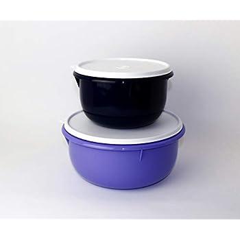 1,0 L gr/ün Hefeteig Tupperware R/ührsch/üssel Peng Trio 3,0 L brombeer lila 2,0 L dunkelblau