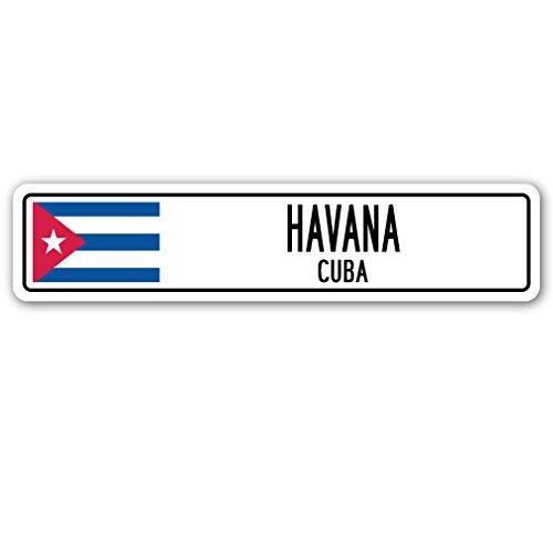 SignMission Havanna, Kuba Straßenschild Kubanische Flagge City Country Road Wand Geschenk
