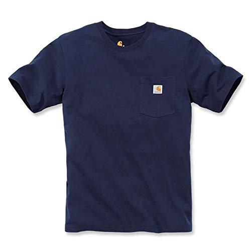Carhartt Pocket (Carhartt Workwear Pocket T-Shirt S/S - Baumwoll T-Shirt,navy 412, S)