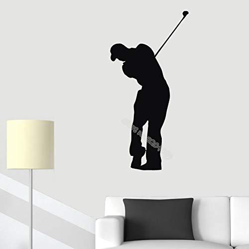 zqyjhkou Golf Player Wandaufkleber Wohnzimmer Abnehmbare Aufkleber Decor Sofa Hintergrund Schlafzimmer Vinyl Aufkleber Sport Stadion Kunst Poster Ea174 56x113 cm