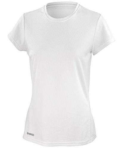 Spiro Womens/Ladies Sports Quick-Dry Short Sleeve Performance T-Shirt (L) (White)