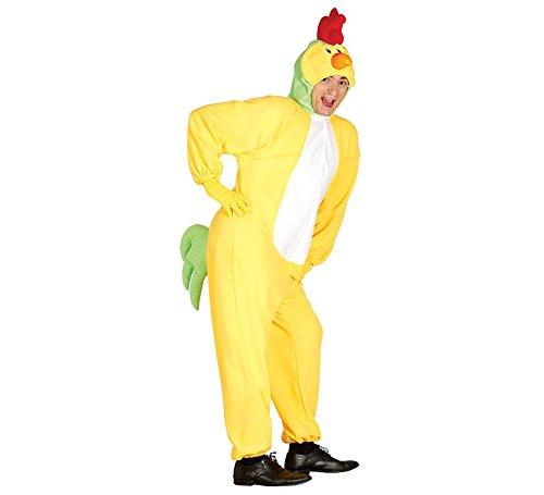 Kostüm Henne Huhn - Huhn Kostüm für Herren Karneval Fasching Tier Henne Ei Hühnchen gelb Gr. M/L, Größe:L