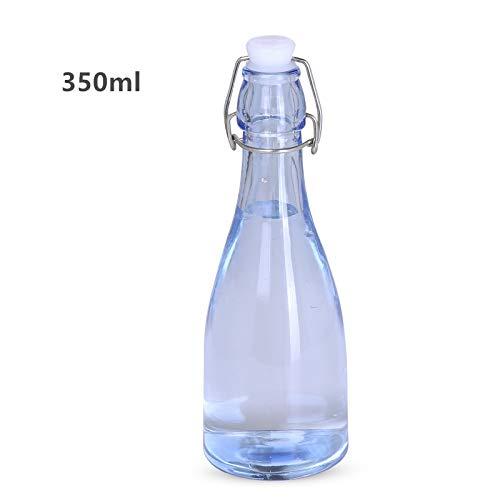 Transparente Glasflasche mit Schnappverschluss verschließbar Milch/Essig Saft Kreative Dekoration, A22x7.5cm (Glas Milch Flaschenverschlüsse)