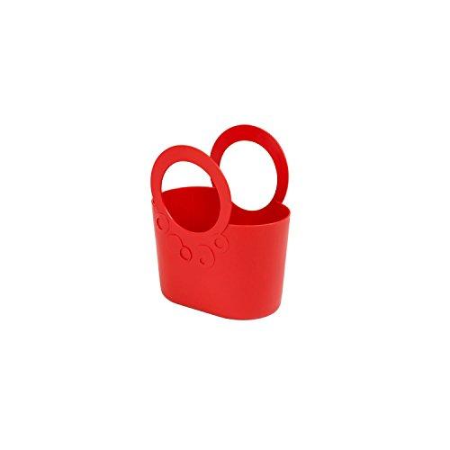 XS kleine moderne Handtasche 1,2 L rot Coral Griffe Lily Kosmetiktasche Basket