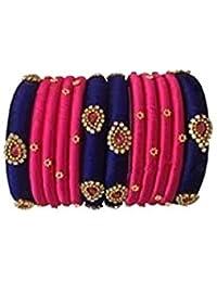 Mayank Creations Pink Colour Silk Thread Bangle Set For Women
