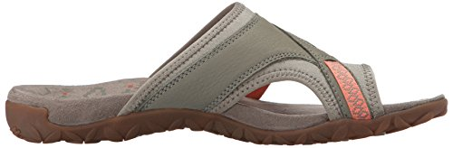 Merrell Terran Post Ii, Sandales Bout Ouvert Femme, Rose, 37 EU Ivoire (Putty)