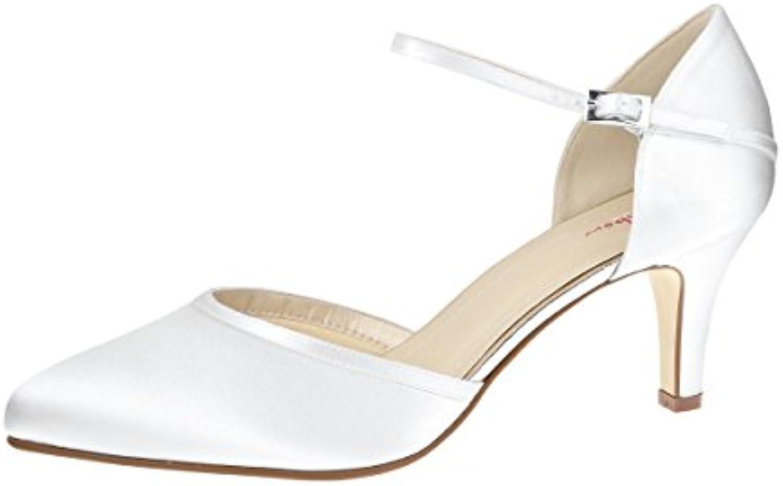 Rainbow Club Zapatos de Vestir Para Mujer Blanco Weiss/White