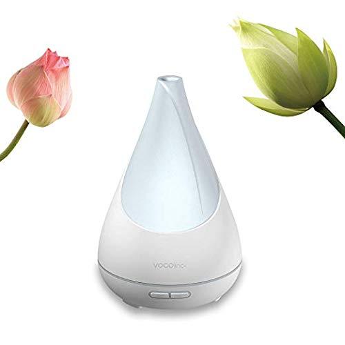 VOCOlinc – FLOWERBUD Intelligenter Ultraschall Duftzerstäuber & Luftbefeuchter für HomeKit, Alexa, Google, Aromatherapie, Ätherische Öle, Einstellbarer Diffuser, Duftspender mit Entspannungs-Licht