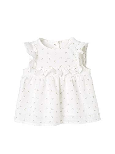 Vertbaudet Rüschenbluse für Baby Mädchen weiß Bedruckt/palmen 92