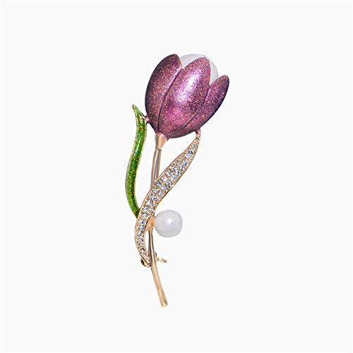CXYJ 2019 Neue Brosche Frauen Tulip High Sense Kreative Settie Brocade Pin Fixed Bekleidungszubehör (Brocade-kleid-frauen)