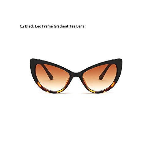 Sport-Sonnenbrillen, Vintage Sonnenbrillen, Butterfly Cat Eye Sunglasses Women Fashion Clear Gradient Farbe Lens UV400 Brand Designer Sun Glasses For Men C2