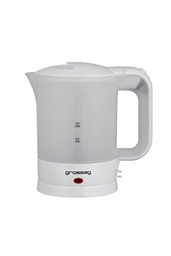 grossag Reise-Wasserkocher WK 3 / 115-230 Volt/ 500ml/ inkl. 2 Tassen (Wasserkocher Eine Tasse)