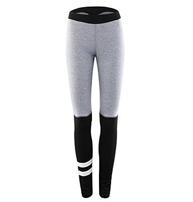 ZEZKT☀Frauen Yoga Hosen Patchwork Gym Fitness Übung Sportlich Hosen port Leggings Klassisch Vintage Stretch Hose Atmungsaktiv Jogging Pants Hohe Taille Sport Gym Laufen Fitness