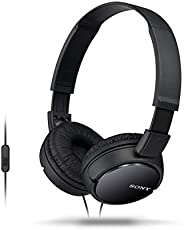 Sony MDR-ZX110AP Extra Bass Smartphone Headset With Mic (Black) Headphone - (Pack of1)