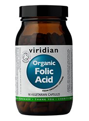 Viridian -Organic Folic Acid 400ug - 60 Vegetarian Capsules by Viridian
