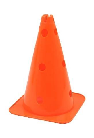 Large Hat Shaped Agility Cone with Pole Holes - 38 CM - Orange