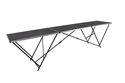 EazyGoods 3 Metre Pasting Table, MDF Top/Aluminium Frame, Black, 300 x 60 x 78 cm Test