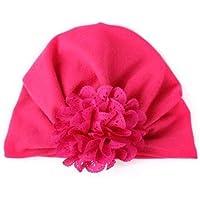 Ecovers Cálida Flor de Calado Anudada Boho Baby Baby Beanie Hat Seguro y no irritante