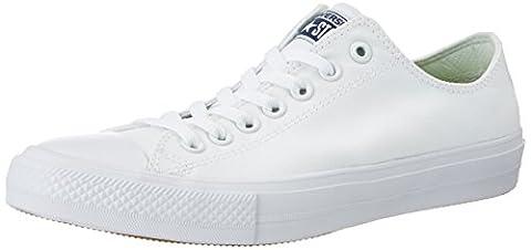 Converse Unisex-Erwachsene Chuck Taylor All Star Ii Sneakers, Weiß (White/white/navy), 43 EU