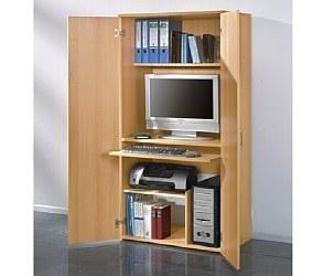 Büroschrank PC Schrank Buche Computerschrank (441)