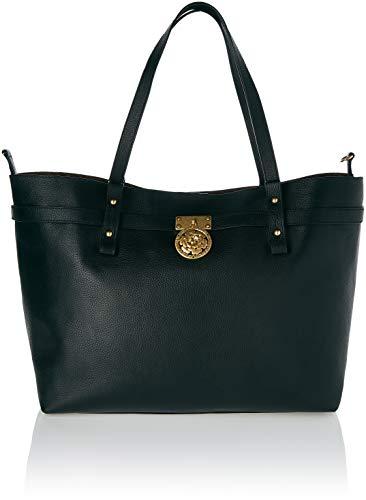 Guess Damen Peony Schultertasche, Schwarz (Black/Bla), 56x16.5x33 Centimeters (Luxe Handtaschen)
