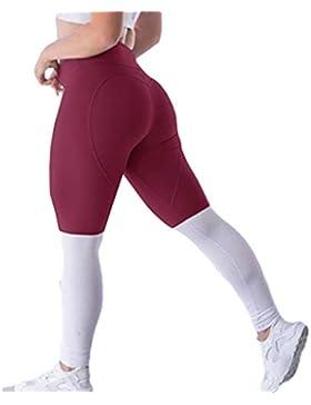 Yying Pantalones Pitillo Mujeres Cintura Alta Apretada Leggings Deportivos Hip Push Up Pantalones Elásticos Pantalones...