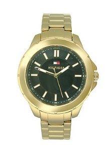 Tommy Hilfiger three-hand tono dorado Mujer Reloj de acero inoxidable # 1781434