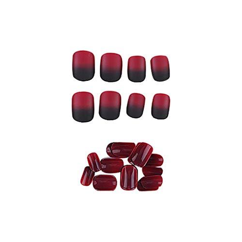 Falsche Nägel-22 Stile Natürliche Nail Sticker Tattoo, Künstliche Fingernägel False Nail Tips, Fruchtgelee Nagel Abnehmbare Gefälschte NägelWiederverwendbar, Nagel Patch 24 Stücke (S) - Nägel Für Kinder Gefälschte