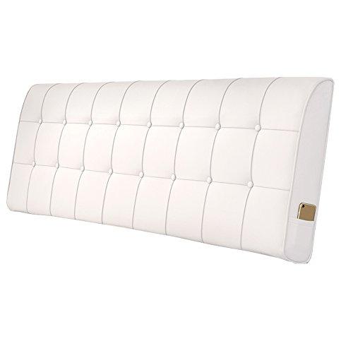 Europäische Nachttisch Kissenstütze Rückenlehne Lendenkissen Matte Kunstleder Kissenbezug 5 Größe - für Betten ohne Kopfteil (Farbe : F, größe : 180 * 10 * 60cm)