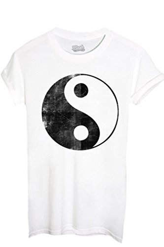 T-Shirt TAO YOGA RELAX - MUSIC by iMage Dress Your Style - Donna-XL-BIANCA