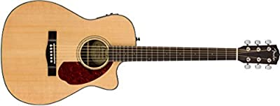 Fender cc-140sce, Natural, duro caso Guitarra Electroacústica de madera de palisandro
