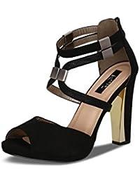 Kielz Women's Black Suede Shoes