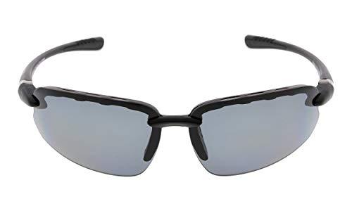 Eyekepper Polycarbonat Polarisierte Sport Sonnenbrille Für Männer Frauen Halbrand Baseball Laufen Angeln Fahren Golf Softball Wandern TR90 Unbreakable Black Frame Grau Objektiv