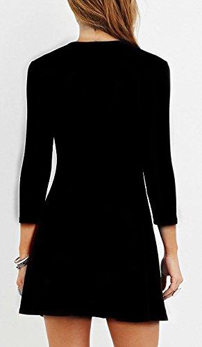 Kleider Damen Abendkleider Kurz V Ausschnitt Bandage Dreieck Kreuz A-Linie  High Waist Uni- ...