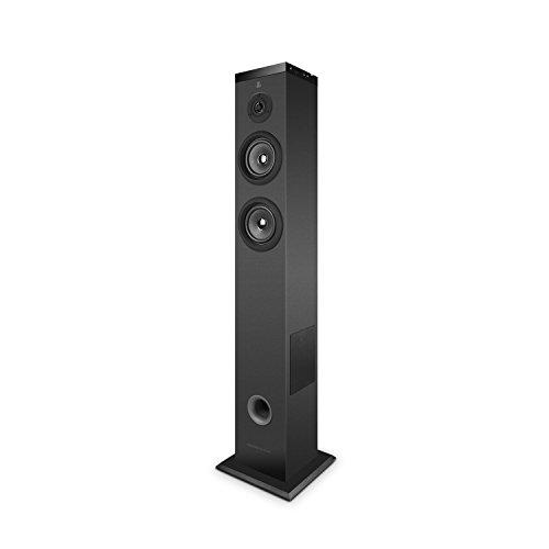 Energy Sistem Multi-Room - Altavoz de suelo Wi-Fi (Bluetooth, 60W potencia real, panel táctil, USB/SD)- Negra