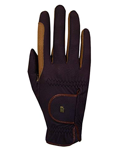 Roeckl Sports Handschuhe Malta, Unisex Reithandschuhe, Mokka, 8,5