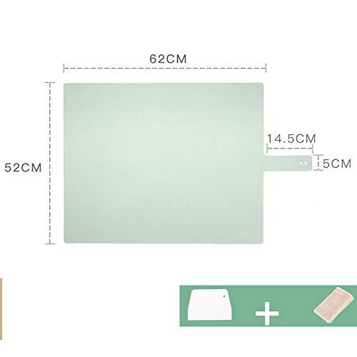 xgvvb Silikonmatte Matte Lebensmittelqualität Panel Haushaltsbackenwerkzeuge Olivgrün (Schneidmesser + Dampftuch)