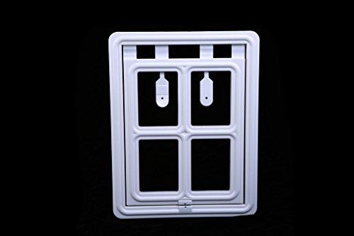 Pet Leso ® Weiße Magnet-Hundetür Automatische Sperre Pet fenster-Bildschirm Klapptür mit weißem Magnetic - S