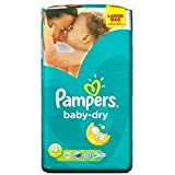 Pampers Baby Dry Size 4 (7-18kg) x 62 per pack by Pampers