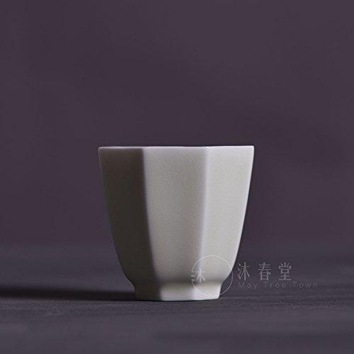 TIANLIANG04 Mugs、Tasses à café Meubles Anciens en Céramique Tasse Octogonale Bord Huit Tasse De Thé Blanc Thé Kung Fu Celadon Porcelaine Coupe Master,C