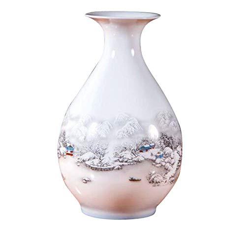 Black Temptation Weißer keramischer Vase für Hauptdekorations-Vase und Tabellen-Mittelstücke Vase, A09