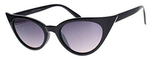 50er Jahre Damen Sonnenbrille Cat Eye Form Katzenaugen Modell FARBWAHL 73 (Schwarz)