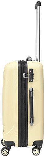 Packenger Kofferset - Velvet - 3-teilig (M, L & XL), Cafe-au-Lait, 4 Rollen, Koffer mit TSA- Schloss und Erweiterungsfach, Hartschalenkoffer (ABS) - 6