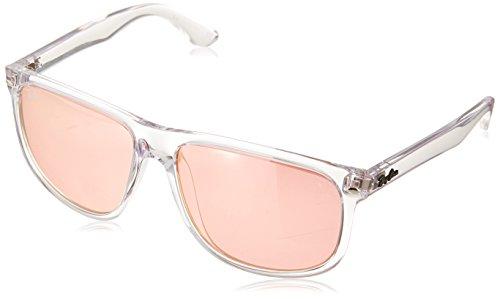 RAYBAN Herren Sonnenbrille RB4147, Weiß (Transparent/Pink Flash Copper), 60