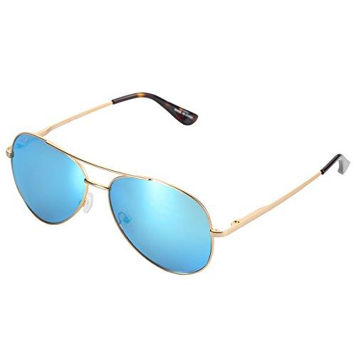 YUFENRA Polarized Aviator Sunglasses for Mens Womens Reflective Mirror Lens Uv400 Protection