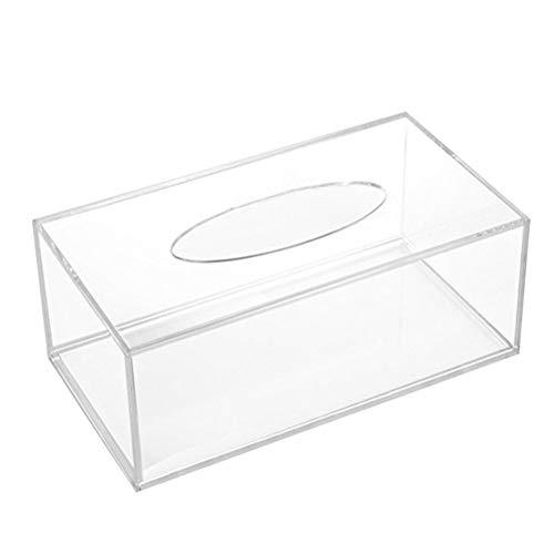 OUNONA Acryl Tissue Box Kleenexbox Kosmetiktücherbox Taschentuchbox für Kosmetiktuch Taschentuch Papiertuch Zuhause/Büro/Auto (Acryl-box)