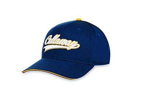 Callaway Golf 2016 Throwback Lightweight Adjustable Mens Structured Golf Cap Navy