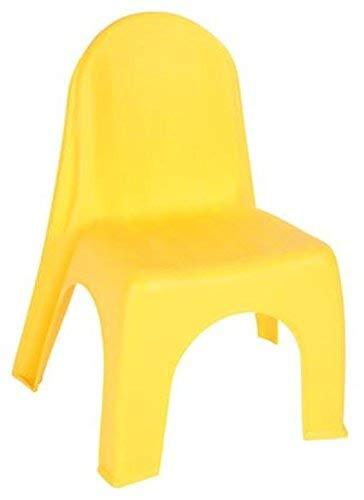Spetebo Kinderstuhl in gelb - robuster Stuhl für Kleinkinder - Kindermöbel Gartenstühle Kinserstühle