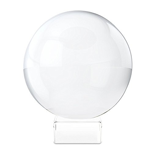 (7.6cm - 0.5cm DIA, K9 Clear) - Clear Crystal Ball with Stand, MerryNine 3-1/5