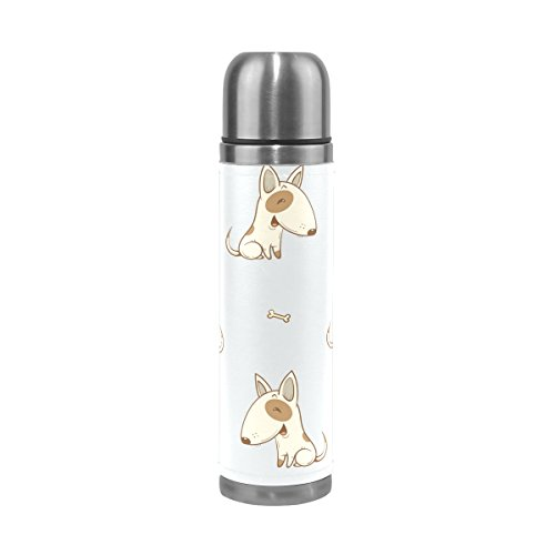 FFY Go Travel Tasse, niedliche Maus Animal Print personalisierbar Edelstahl Fläschchen auslaufsicher Thermos isoliert Außen Leder für Mädchen Jungen - Becher Kaffee Animal-print